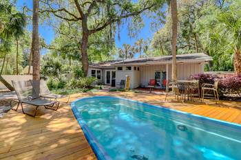 4 Hickory Lane 3 BR Pool Forest Beach 3 Bedroom Cabin Rental