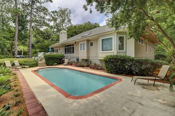 6 Topside 3 BR Home Pool Palmetto Dunes  3 Bedroom Cabin Rental