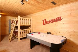 Bunk Beds and Air Hockey Table in Downstairs Den
