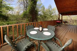 Outdoor Dining Area on Private Back Deck