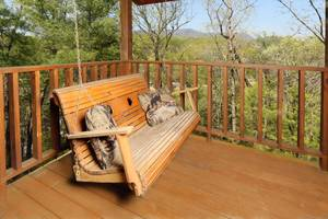 Bench Swing on Private Back Deck