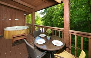 Outdoor Dining on Private Back Deck
