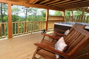 Private Back Deck w/ Rocking Chairs, Gas Grill, Hot Tub