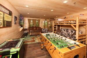Bunk Beds, Foosball, Arcade Game, Flat Screen TV in Downstairs Den