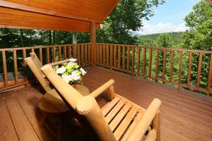 Private Back Deck off Master Bedroom Upstairs
