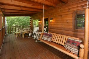 Back Deck with Rocking Chairs and Swing