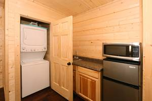 Wet Bar and Washer and Dryer