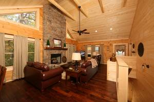 Spacious Living Room with a Gas Fireplace