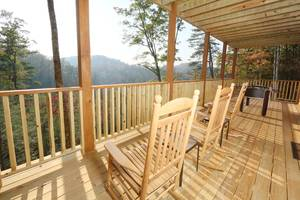 Spacious Deck with Rocking Chairs