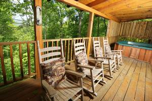 Rocking Chairs on Private Back Deck