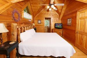 Master Bedroom with King Bed and Private Deck