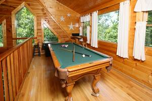 Pool Table and Arcade Game in Upstairs Loft