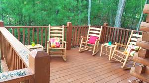 Back Deck with Rocking Chairs