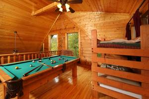 Pool Table and Bunk Beds in Loft