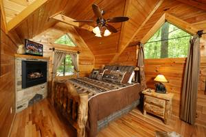 Large Master Suite with Jacuzzi Tub, Electric Fireplace, and King Bed
