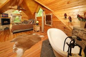 Claw-Foot Jacuzzi Tub in Master Bedroom
