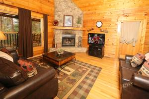 Main Living Room with Wood Burning Fireplace