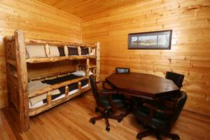 Bunk Beds and Card table in Downstairs Den