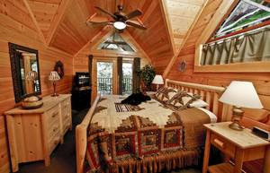 Master Bedroom Upstairs with King Bed, Private Balcony, and Full Bathroom