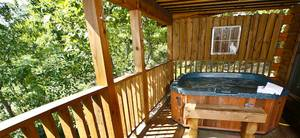 Hot Tub on Private Back Porch