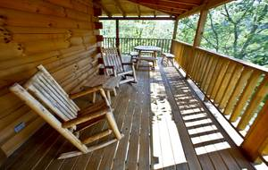 Rocking Chairs on Private back Porch