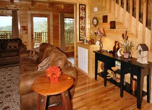 Spacious Living Room on Main Level with Gas Fireplace