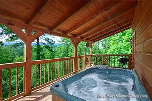 Hot Tub on Private Back Deck