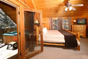 Hot Tub off Master Bedroom on Private Deck