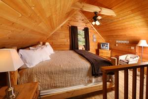 King Bed in Upstairs Loft