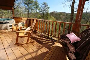 Rocking Chairs and Swing on Private Deck