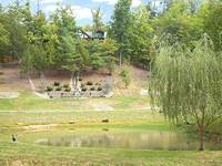 Catch and Release Fishing Pond in Pigeon Forge Tennessee at Fundarosa 43 in Gatlinburg TN