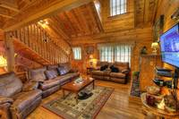 Spacious Living Room Here at Bears Den In Pigeon Forge  at Bears Den 72 in Gatlinburg TN