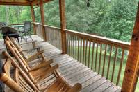 Breathe Taking Porch View From Bears Den in Pigeon Forge and Maples Ridge Cabin Rentals  at Bears Den 72 in Gatlinburg TN