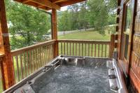 Relaxing Jucuzzi in Pigeon Forge At Maples Ridge Cabin Rentals  at Bears Den 72 in Gatlinburg TN