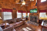 The Outside of the amazing Mountain Sunset. This Cabin is prefect for you and your family to vacation here in Pigeon Forge Tennessee.  at Mountain Sunset 28 in Gatlinburg TN