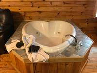 Heart Shaped Jacuzzi for two at Mountain Romance 1 in Gatlinburg TN