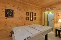 Amazing Air hockey in Gameroom at Hemlock Hideaway in Gatlinburg TN
