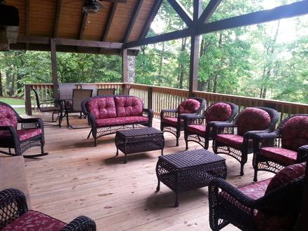 Porch at SMOKIES EDGE in Near Gatlinburg TN