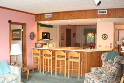 Condo rental in Gatlinburg with a fully equipped kitchen.