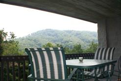 Galinburg condo rental with a private balcony.