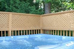 Private hot tub at your Gatlinburg chalet rental.