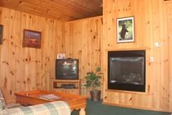 Enjoy the fire in your romantic getaway cabin in Gatlinburg, Tn.
