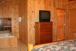 Honeymoon log cabin rental in Gatlinburg.
