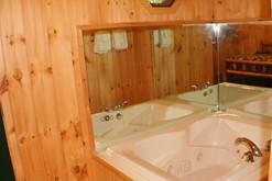 Jacuzzi in the master suite of your honeymoon cabin in Gatlinburg.