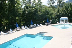 Gatlinburg Condo rental with an on-site swimming pool.