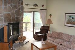 Enjoy the wood burning fireplace at your Gatlinburg condo.