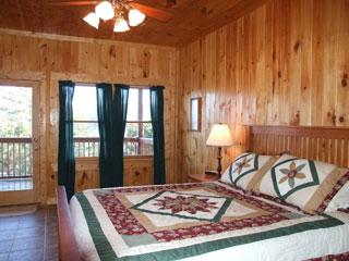 downstairs bedroom of View Ober Gatlinburg Cabin
