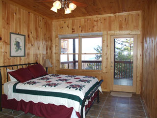 downstairs bedroom 2 of View Ober Gatlinburg Cabin