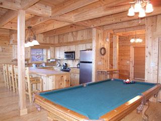 pool table in View Ober Gatlinburg Cabin