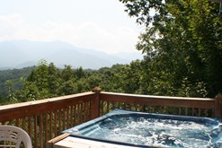 Gatlinburg chalet rental with a private hot tub.